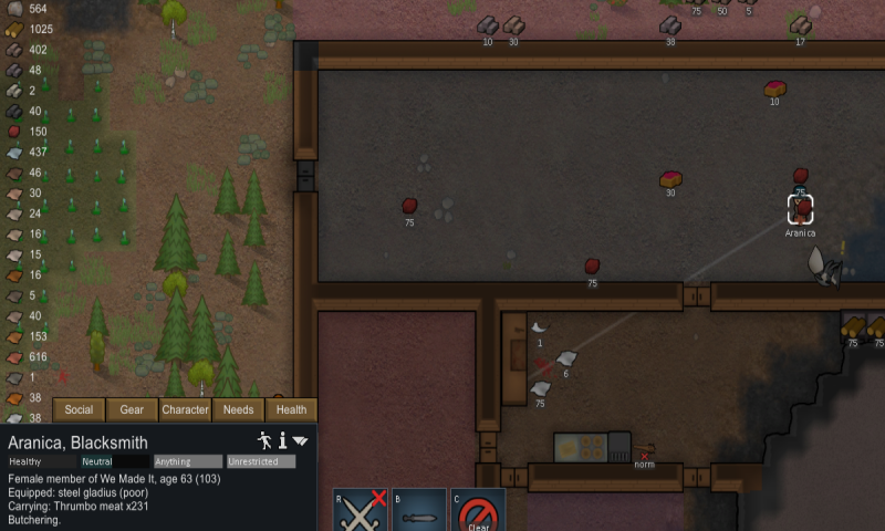 Thrumbo horn butchered.png