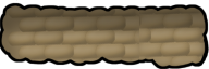 Row of sandbags